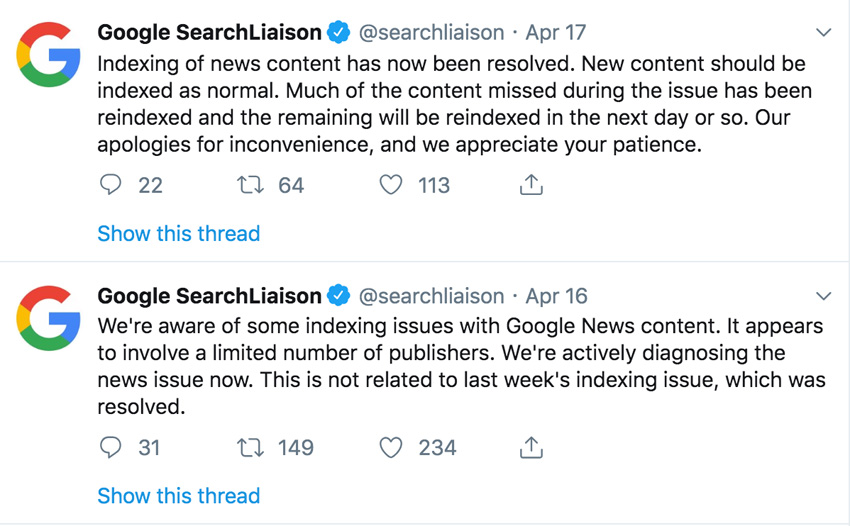 Google Algorithms Explained Tweet By Search Liaison