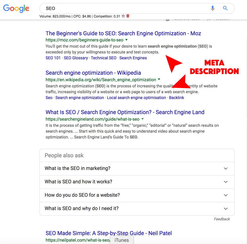 Meta-description-screenshot