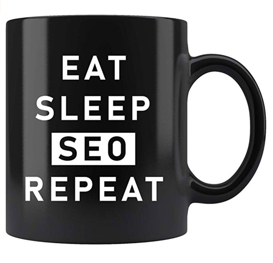 eat sleep SEO repeat digital marketing mug