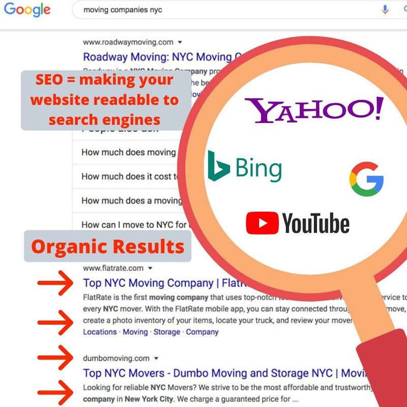 seo search engines infographic