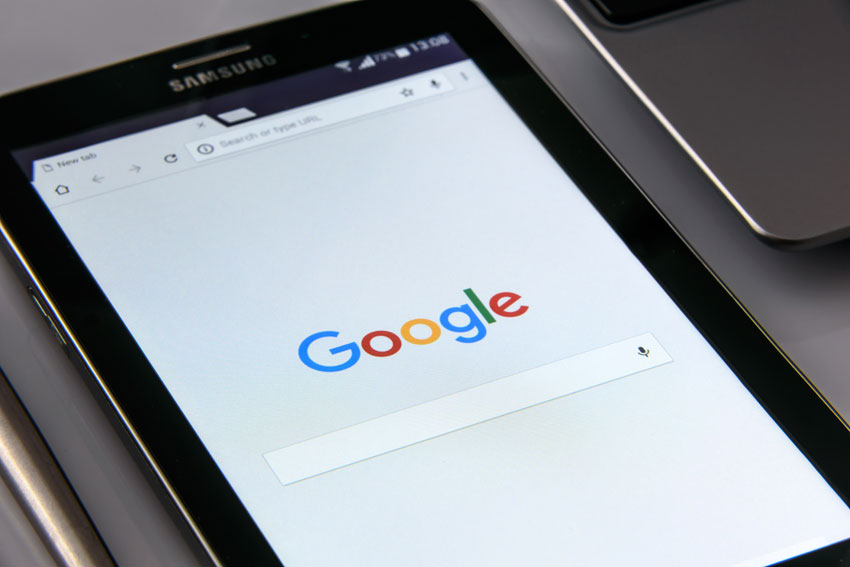 google SEO tablet image