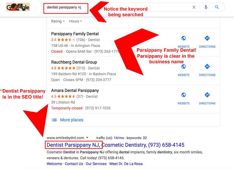 parsippany NJ seo image screenshot