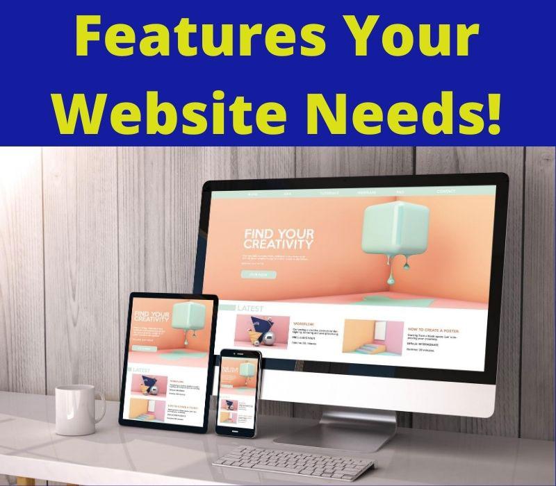 features your website needs